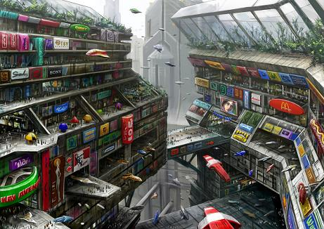 Futurescape Shopping Avenue by Richard Lim Boon Keat